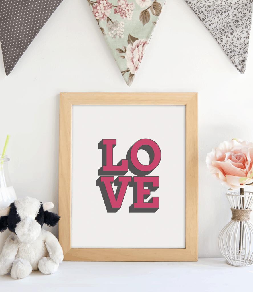LOVE framed