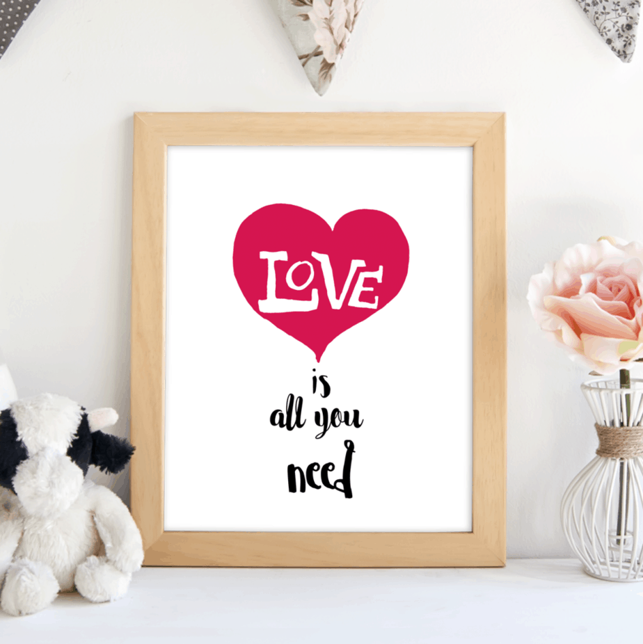 love is all you need framed