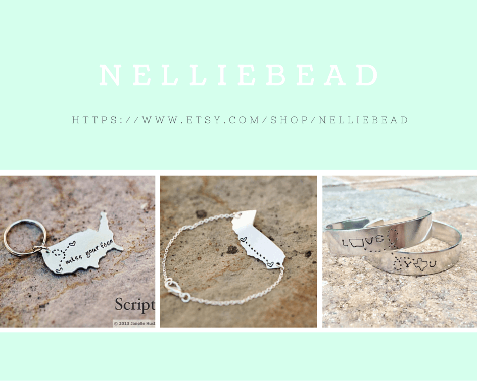Featured Etsy shop - NellieBead. Shabbymintchicparty.com