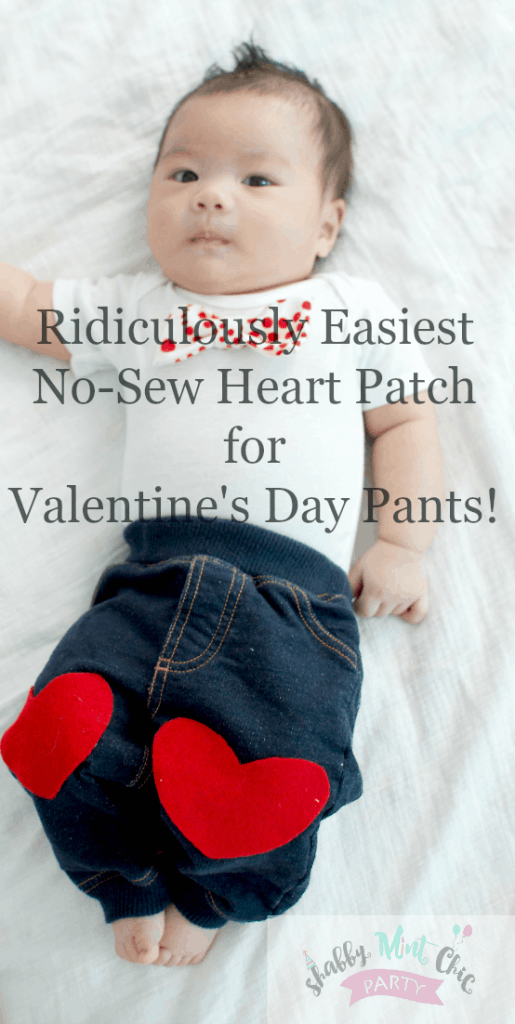 Ridiculously Easiest No-sew Heart Patch for Valentine's Day Pants!