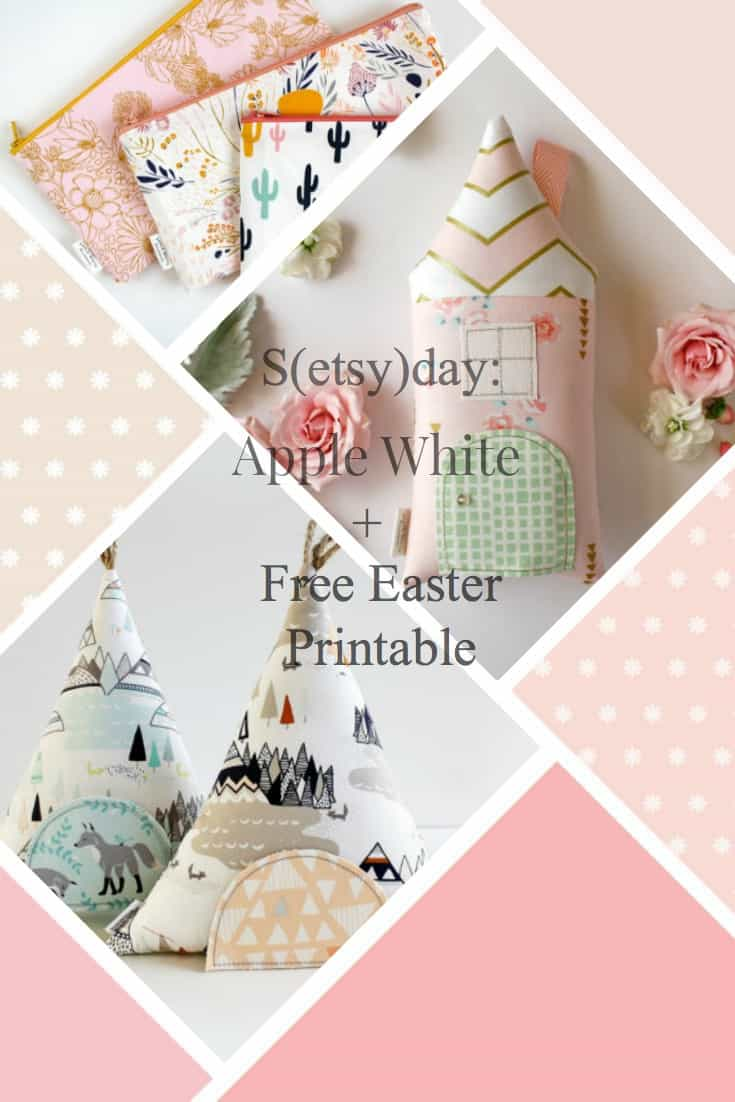S(etsy)day: Apple White and Free Easter Bunny Printable