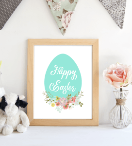 happy Easter Egg Blue printable. shabbymintchicparty.com