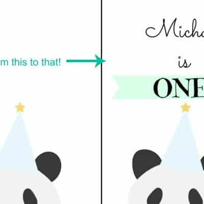 How to personalized printables using Picmonkey