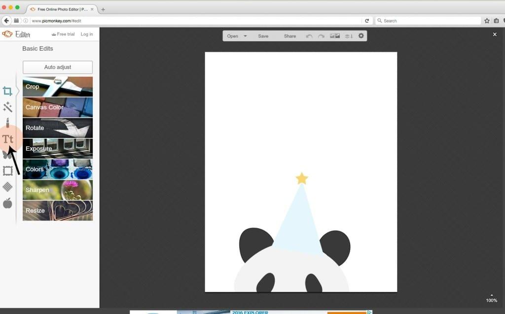 Picmonkey tutorial open file