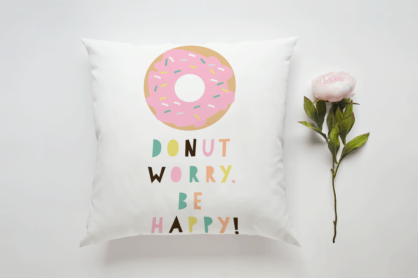 Don't Worry. Be Happy Cushion