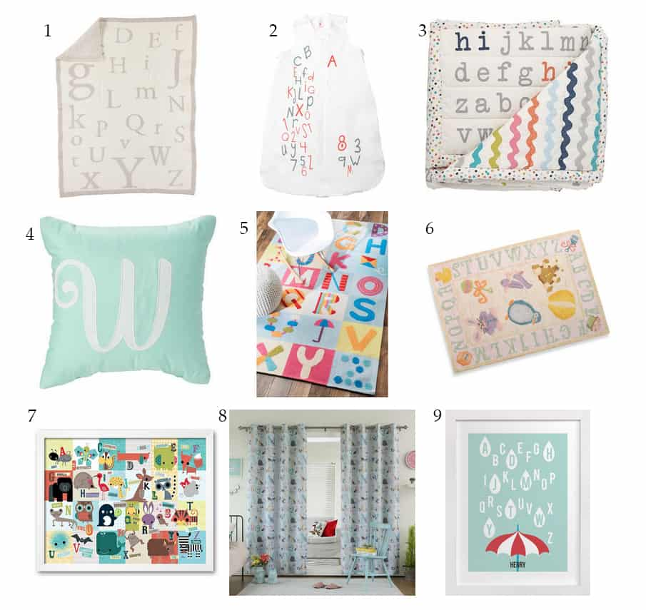 Awesome Gifts For An Alphabet Themed Nursery Shabby Mint