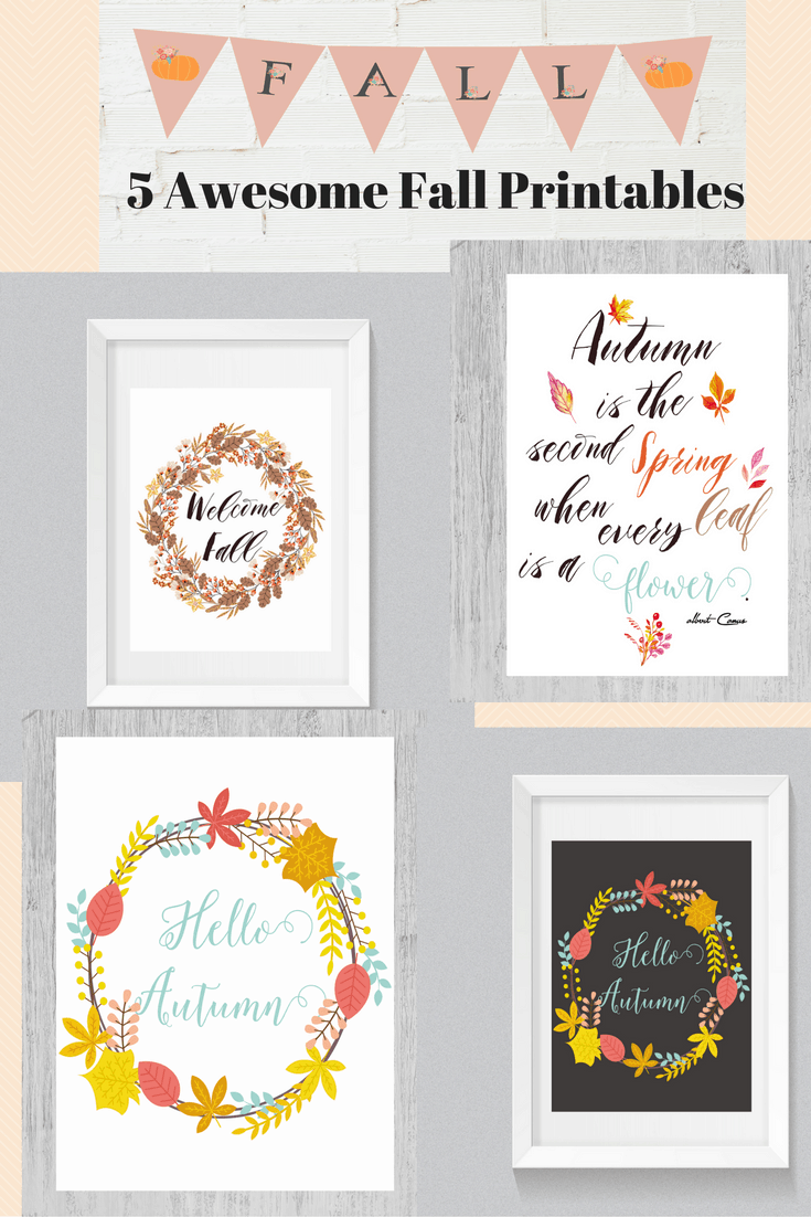 5 awesome Fall Printables for your home and party. shabbymintchicparty.com