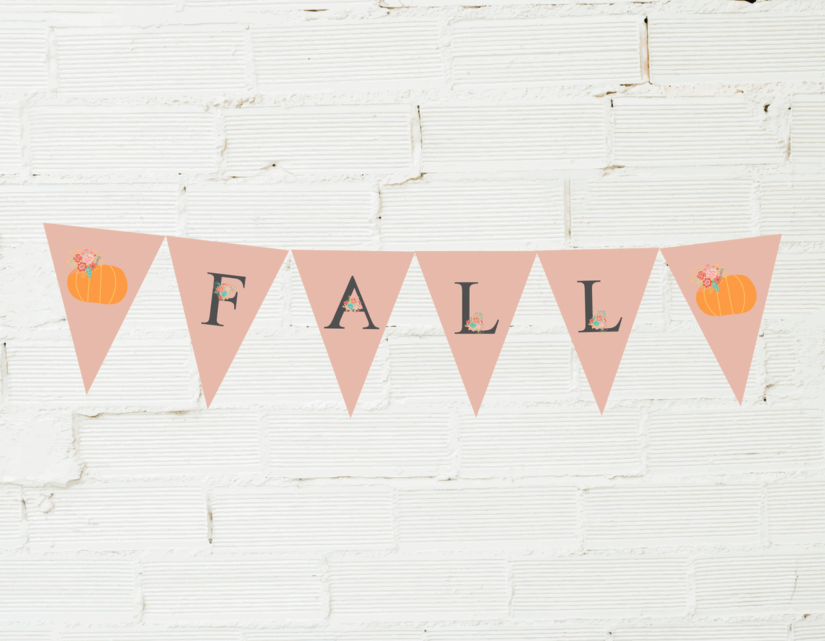 Shabby Chic fall garland.