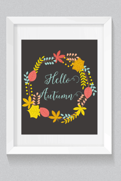 Fall printable. Shabby mint chic party