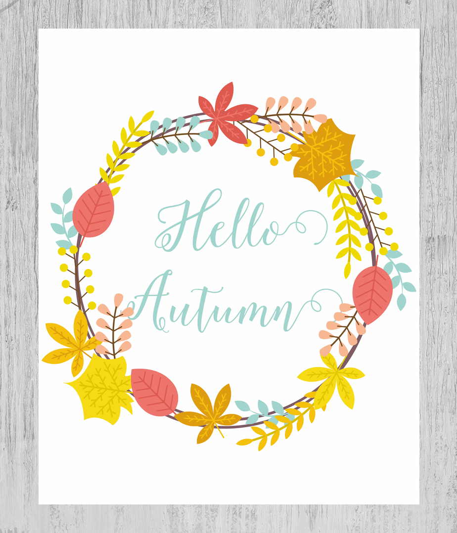 hello fall white background. Shabby Mint chic party