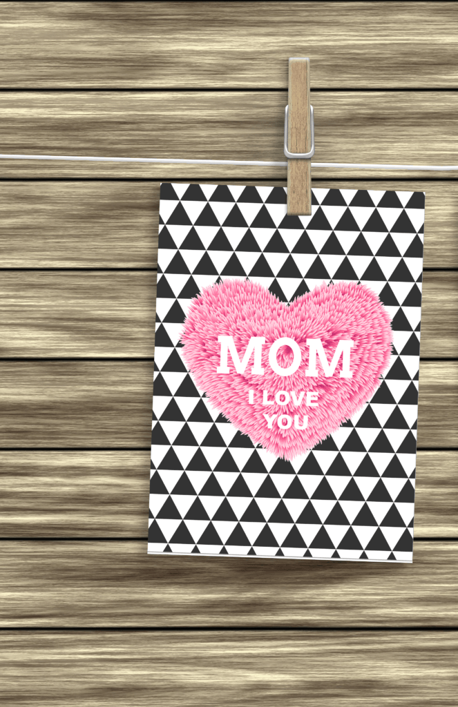 Mother's Day Card- Furry heart