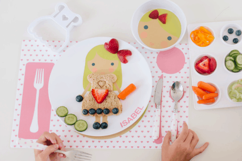 products for picky eaters. Dress up plates and dress mold.