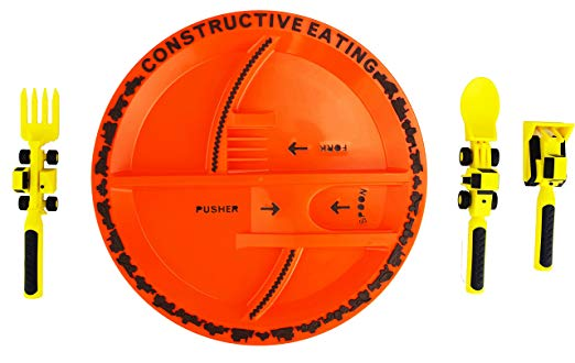 products for picky eater. construction eating set