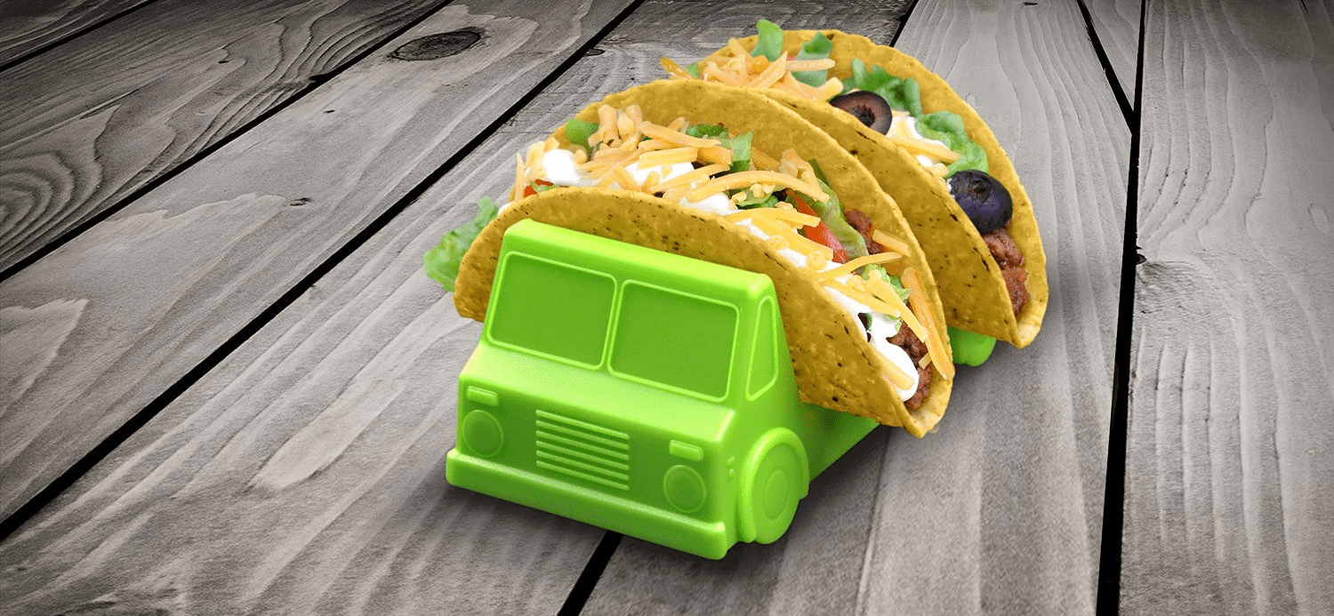 taco trunk taco holder. For the little picky eater. shabbymintchicparty.com