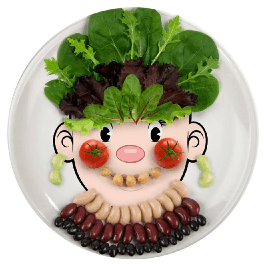 products for picky eater . funny face food plate for the picky eater. shabbymintchicparty.com