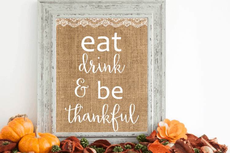 Free  Shabby Chic Thanksgiving Printable