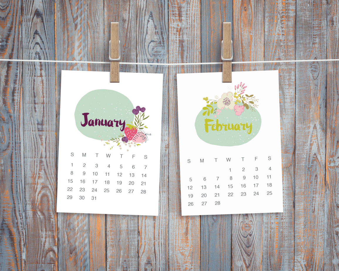 Happy 2017 + free desk calendar printable