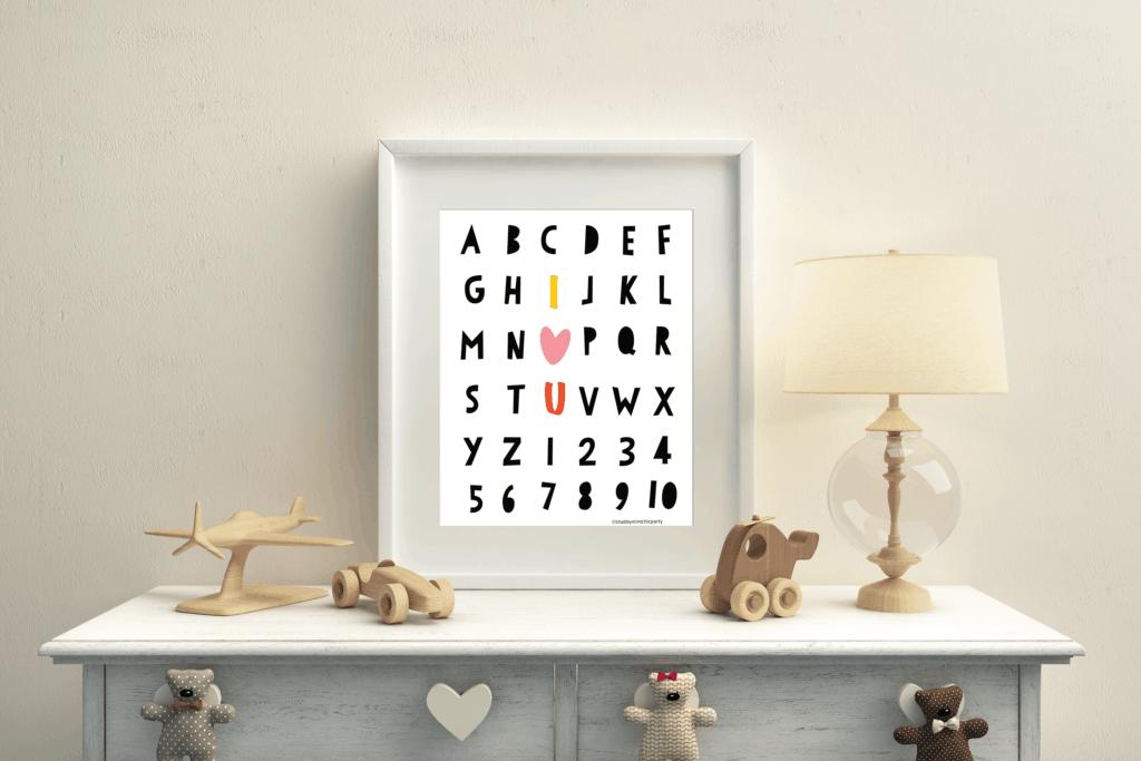 Valentine's Day Alphabet Printable