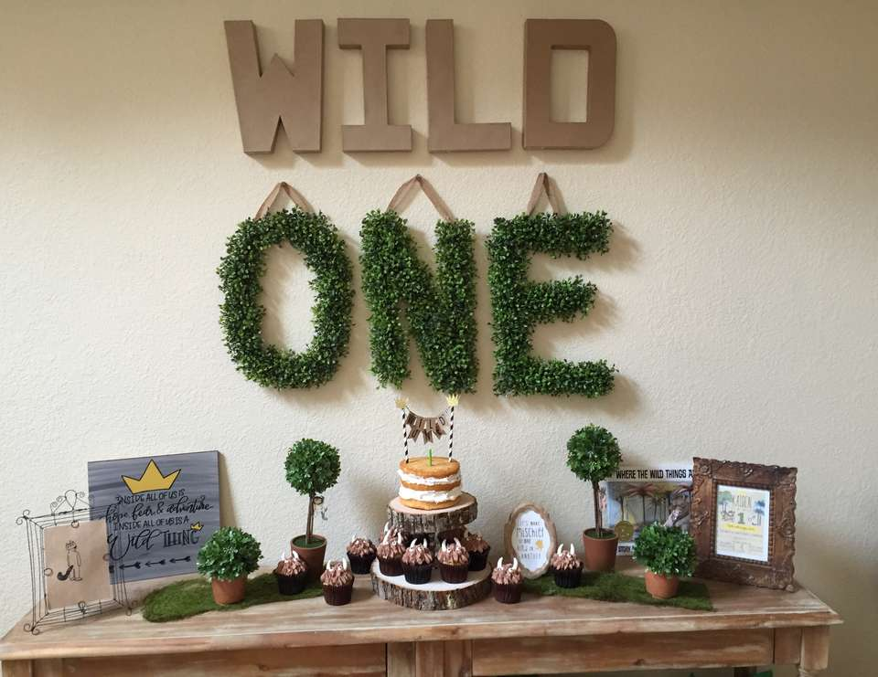Wild One Themed Party- Where the Wild Things Are