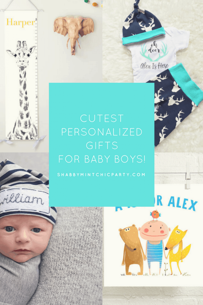 Cute Baby Boy Gifts  sc 1 st  Shabby Mint Chic Party & Cutest Personalized Gifts for Baby Boys! - Shabby Mint Chic Party