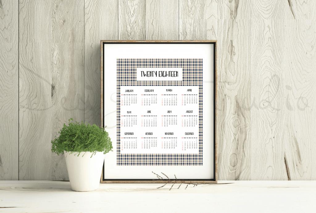 2018 calendar buffalo check