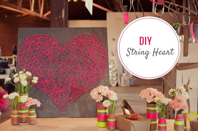 Valentine's Day string heart