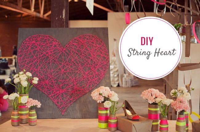 Valentine's Day string heart