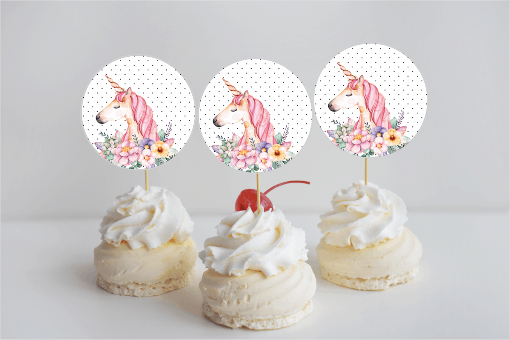 image regarding Unicorn Cupcake Toppers Printable named 5 Desirable Unicorn Get-togethers and cost-free printable in direction of produce your