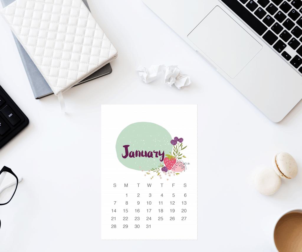 2018 Calendar mockup
