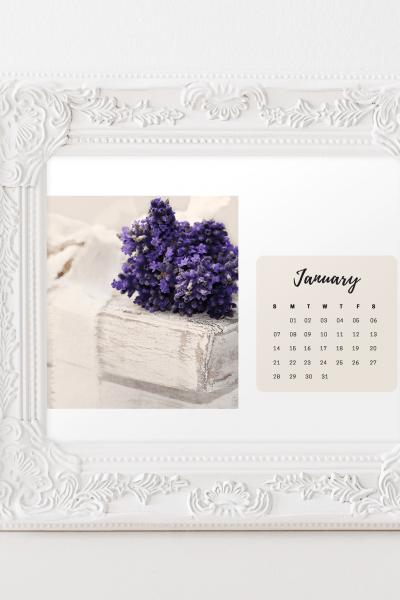 shabby chic floral calendar jan frame