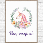 Beautiful Unicorn Parties + Free Printable