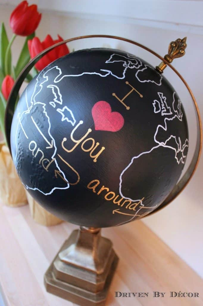 Valentine's Day World Globe