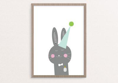 easter bunny hat frame