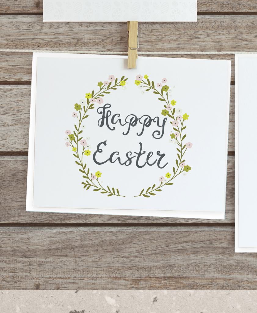 Easter printable wreath