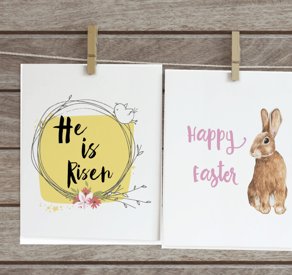 Easter printable risen