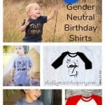 10 Gender neutral birthday shirts for kids