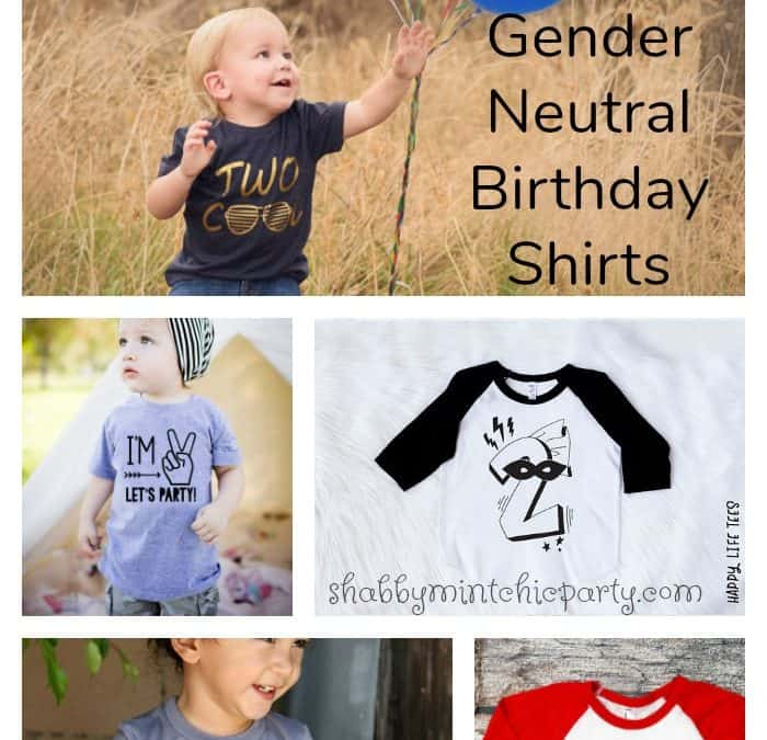 10 Gender neutral birthday shirts for kids