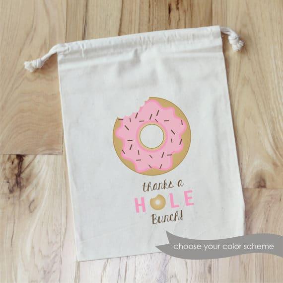 Donut theme party favor bags