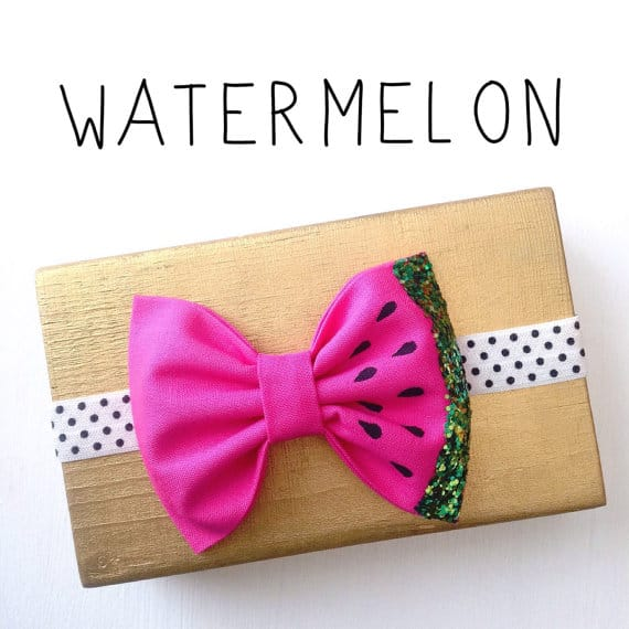 Etsy Hair Bow Watermelon bow