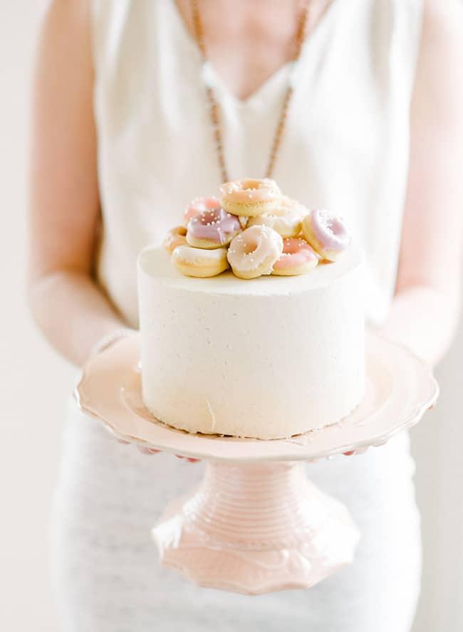 donut theme party cake