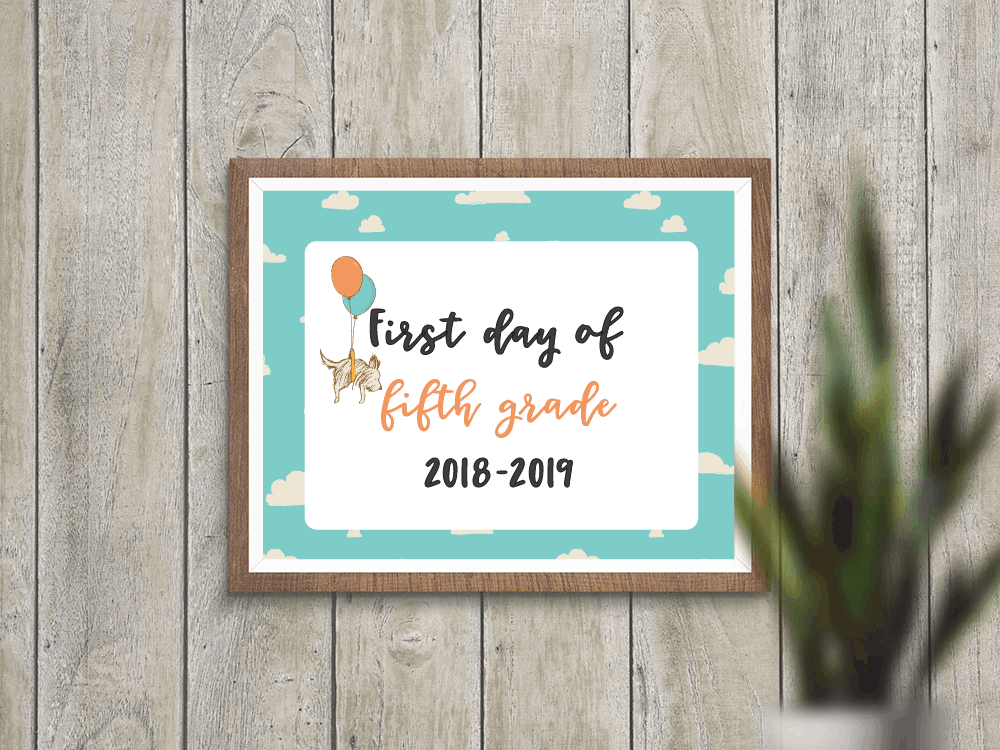 first day of school signs printables