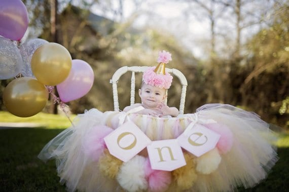 First Birthday high chair tutu by Avary mae Inspirations
