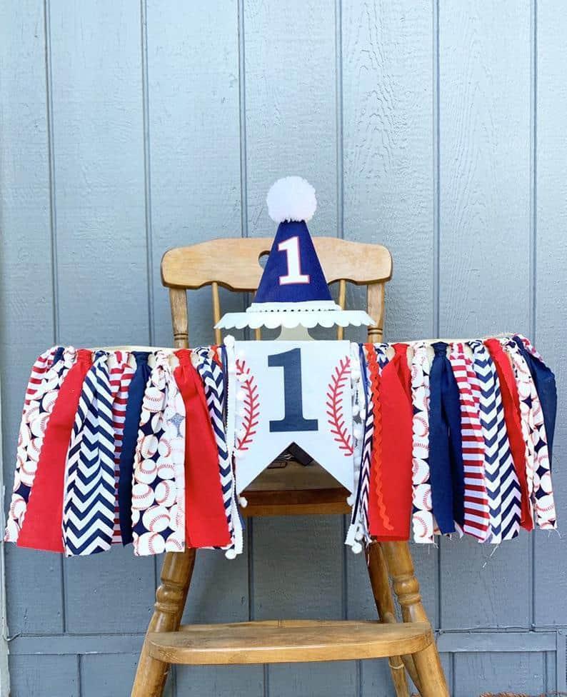 First Birthday High Chair Banner by Flip Flop Lollipop