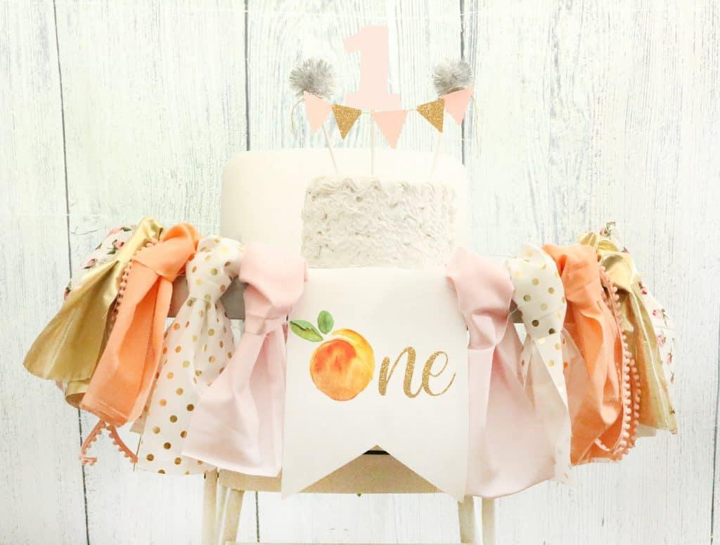 First Birthday Banner Sweet Peach