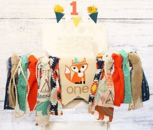 First Birthday High Chair Banner Woodland by Rich at Heart Baby