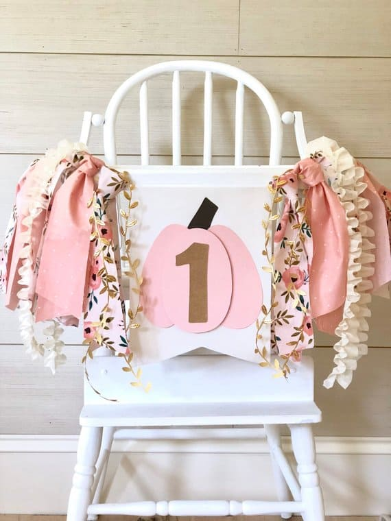 First Birthday High Chair Banner by Birthday Boutique GVL