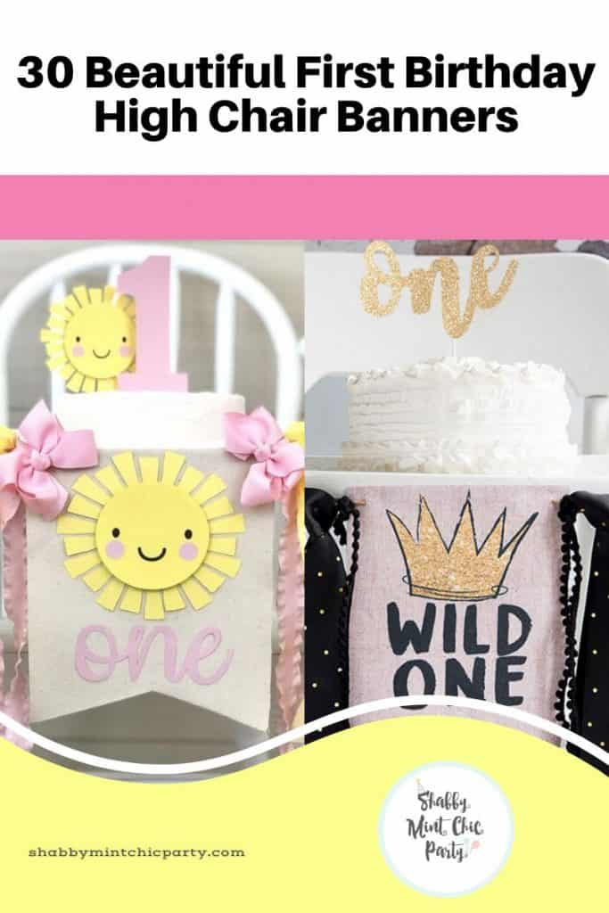 First Birthday Party Decorations High Chair Banners