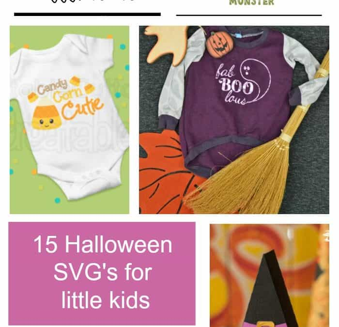 15 Free Halloween SVG files for little kids