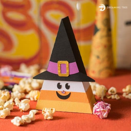 Halloween SVGcandy corn witch