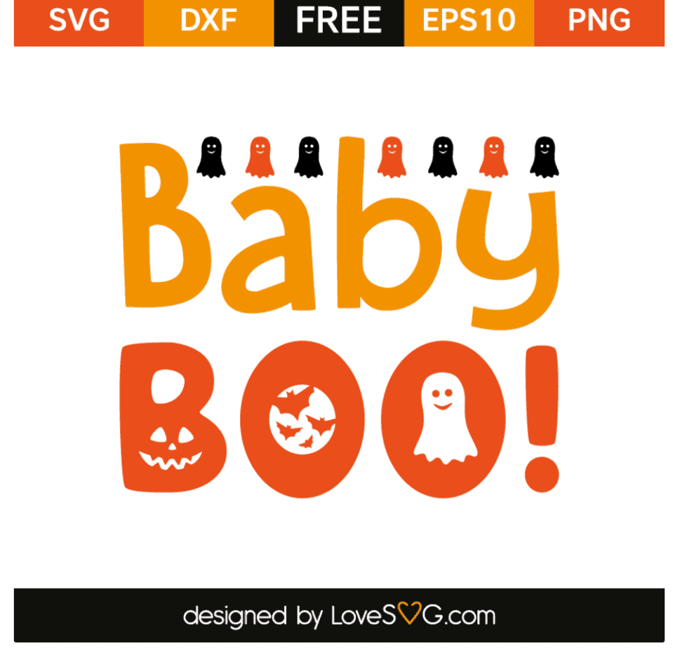 Halloween SVG Baby Boo Lovesvg